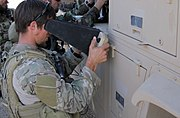 US Air Force Special Operations Weather Tech pilots a RQ-11B Raven in Afghanistan