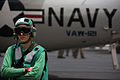 US Navy 040514-N-6278K-004 Aviation Electronic's Technician 2nd Class Wesley Cumbie, of Augusta, Ga., observes flight operations.jpg