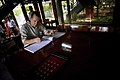 US Navy 070620-N-0696M-049 Chief of Naval Operations (CNO) Adm. Mike Mullen signs a guest book after touring a cottage used by Vietnamese President Ho Chi Minh.jpg