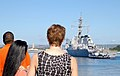 US Navy 071112-N-0879R-007 Family and friends watch as the guided-missile destroyer USS Hopper (DDG 70) departs Naval Station Pearl Harbor.jpg