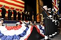 US Navy 081121-N-8467N-001 Naval Submarine School Silver Dolphins parade the colors.jpg