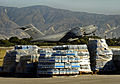 US Navy 100202-N-5345W-021 A U.S. Air Force C-17 Globemaster transport aircraft lifts off from the runway at Aerodome de Jacmel in Port-au-Prince, Haiti, after delivering humanitarian supplies.jpg
