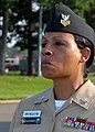 US Navy 110911-N-FJ200-022 Chief Petty Officer (Select) Treva Anderson cries while listening to a Sept. 11, 2001 commemoration at Joint Base Andrew.jpg