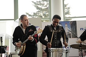 US Navy 120205-N-SD300-179 Musicians from the U.S. 7th Fleet Band perform for 444 local residents at the Rera Chitose Outlet Mall.jpg