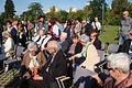 Uczestnicy uroczystości zasadzenia nowych drzewek w Parku Ocalałych w Łodzi MZW DSC03398.jpg