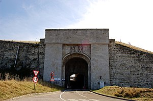 Verne Citadel - Built on the highest point of Portland, the Verne is surrounded by cliffs and a moat, with two entrances — one via a footbridge and one via this tunnel.