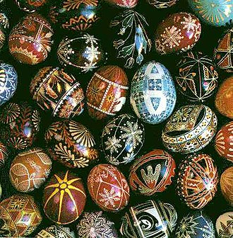 Egg decorating - Ukrainian Easter eggs
