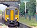 Ulverston Class 156 DMU 156419 arriving on the service to Barrow and Carlisle 20.09.16.jpg