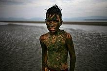 Un ragazzo di etnia bisaya a Mindanao