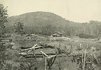 "Battle of Kennesaw Mountain - ""Federal entrenchments at the foot of Kenesaw Mountain."""