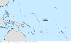 Map of the change to the United States in the Pacific Ocean on December 3, 1859
