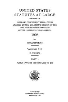 United States Statutes at Large Volume 112 Part 1.djvu