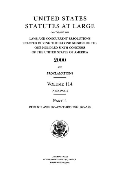 File:United States Statutes at Large Volume 114 Part 4.djvu