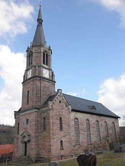 Church in Unterbodnitz in Thuringia
