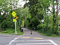 Upper Charles Rail Trail southwest from Hayward Street, May 2017.JPG