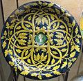 Urbino o casteldurante, piatto con testa di profilo tra foglie di quercia, 1530-45 ca..JPG