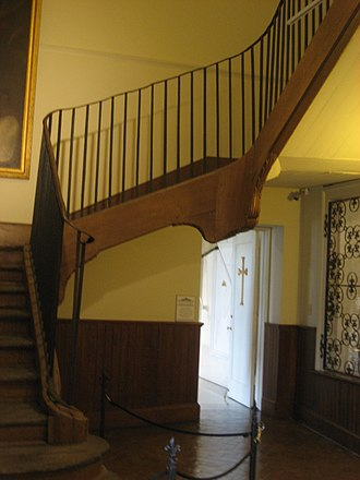 History of the Ursulines in New Orleans - Image: Ursuline FQ Interior Central Staircase 3