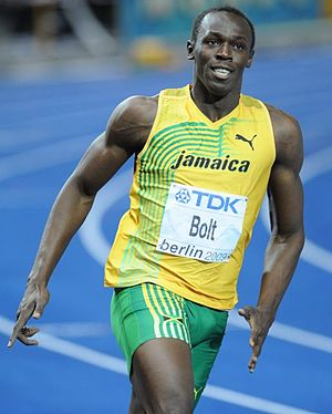 Usain Bolt at the World Championship Athletics...