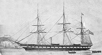 USS Roanoke (1855) - Image: Uss Roanoke 1855 Frigate