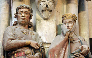 Eckard II, Margrave of Meissen - Donor portraits of Eckard and his wife Uta, Naumburg Cathedral