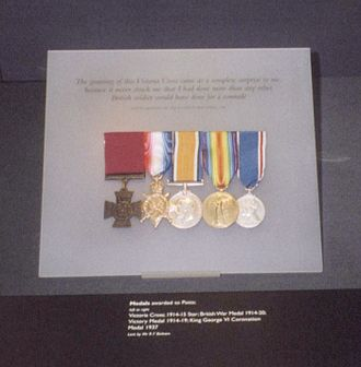 Berkshire Yeomanry - Potts' medal collection at the Imperial War Museum.