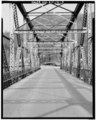 VIEW OF INTERIOR WEB, LOOKING WEST - Kentucky Route 840 Bridge, Spanning Cumberland River, Loyall, Harlan County, KY HAER KY,48-LOY,1-3.tif