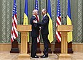 VP Biden and PM Yatsenyuk, Joint Statement, Kyiv, Ukriane, April 22, 2014 (13977913252).jpg