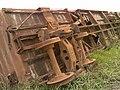 """Vagão tombado e abandonado no pátio da Estação Pimenta """"Nova"""" - Variante Boa Vista-Guaianã km 217 em Indaiatuba - panoramio.jpg"""