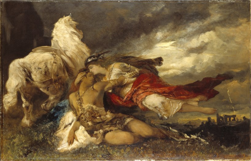 Valkyrie and a Dying Hero (Hans Makart) - Nationalmuseum - 19497.tif