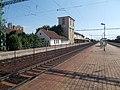 Vasútállomás, peron, pályafenntartási épület, volt vízház épület, 2019 Csorna.jpg