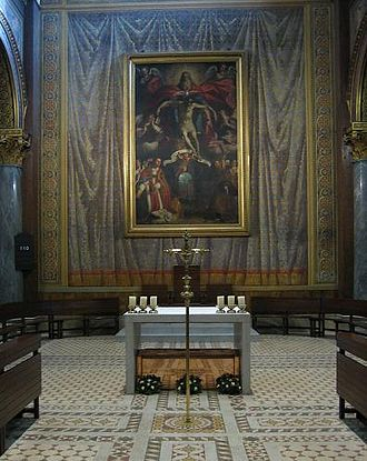 English College, Rome - Interior of the Church of the Venerable English College