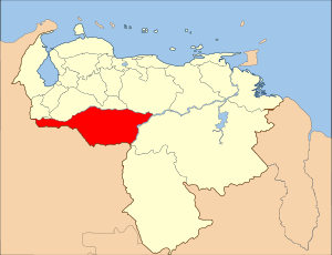 Venezuela Apure State Location.svg