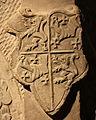 Vermehrtes Wappen Beyer von Boppard mit Ritter von Loesnich (Grabmal Katharina von Wiltz 1573).JPG