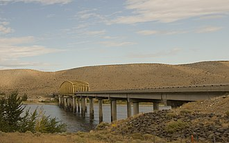 Washington State Route 24 - The Vernita Bridge, built in 1965 to carry the newly-relocated SR 24