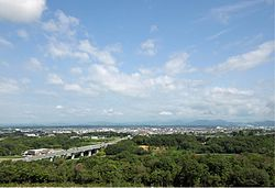 A panoramic viex of Ono, from North Harima Medical Center