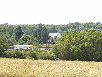 Fulmer - Image: View from Gerrards Cross to Fulmer Hall across the M40 Motorway geograph.org.uk 20836
