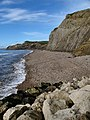 View from West Bay of the crumbling cliffs - geograph.org.uk - 7616.jpg
