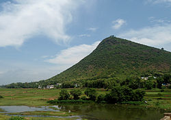 View of Padmanabham Hillock and River Gosthani