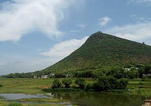 Padmanabham - View of Padmanabham Hillock and River Gosthani
