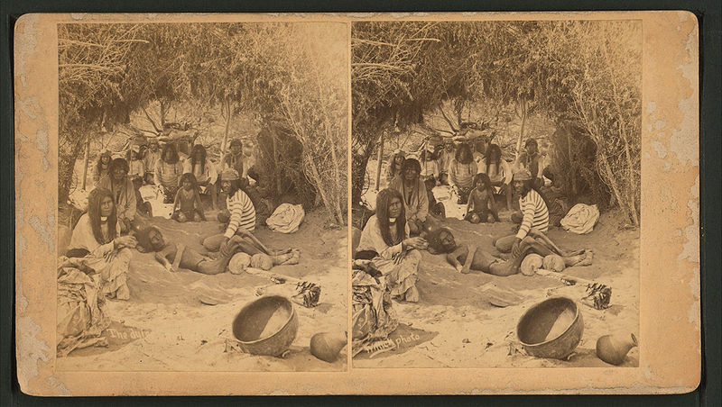 View of a group of Mohaves in a brush hut, one man very emaciated, entitled, by Wittick, Ben, 1845-1903.jpg