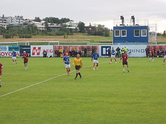 2007 Úrvalsdeild - Picture of the Vikingur vs Valur match in August 2007