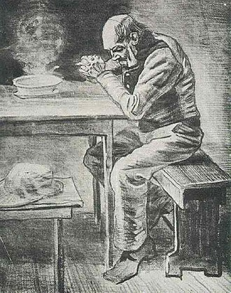 At Eternity's Gate - Image: Vincent van Gogh Prayer Before the Meal F1002