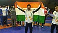 Virender Singh after the 2013 Deaflympics win.jpg