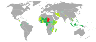 Visa requirements for Chadian citizens - Image: Visa requirements for Chadian citizens