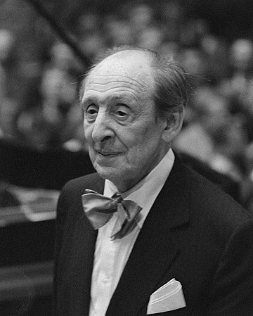 Pianist Vladimir Horowitz was born in Kiev. Vladimir Horowitz 1986.jpg