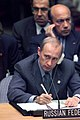 Vladimir Putin at the Millennium Summit 6-8 September 2000-19.jpg