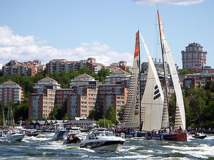 2008–09 Volvo Ocean Race - Ericsson 3 and Ericsson 4 in Stockholm