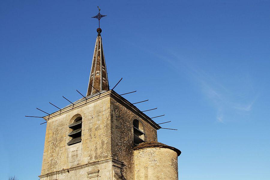 Clocher et tour d'escalier de l'église de Voutenay-sur-Cure