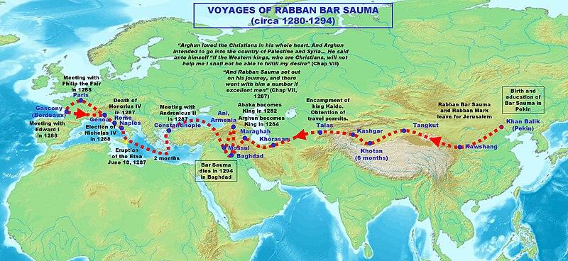 Rabban Savma'nın Seyahat Haritası