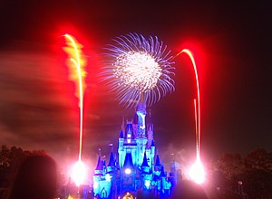 Wishes fireworks shows in the Magic Kingdom Wa...